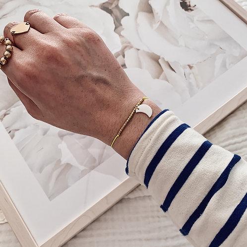 Bracelet Lune - Jaune fluo