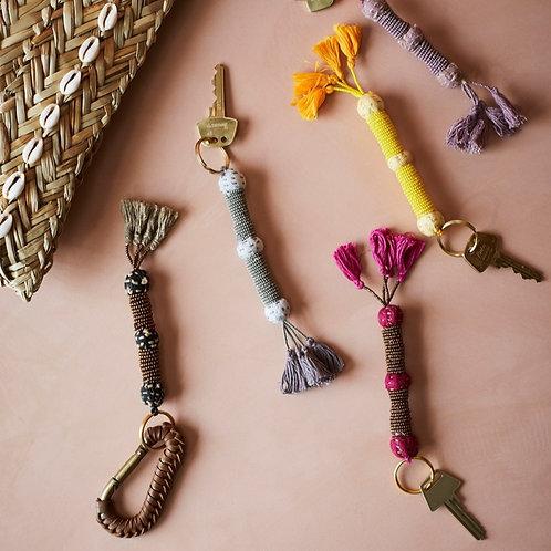 Porte clef Bohème - Fuchsia