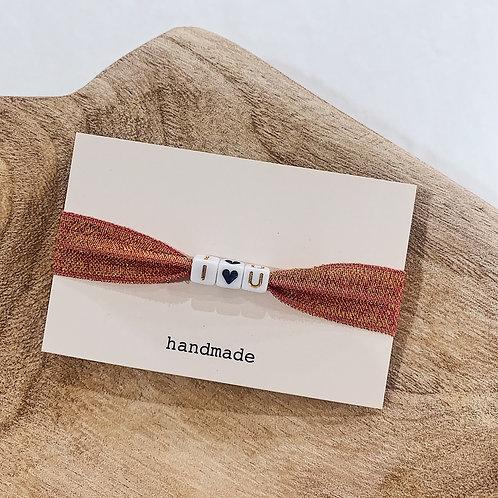 Bracelet I Love U - Doré