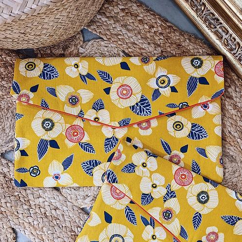 Pochette Summer - Fleurs jaunes