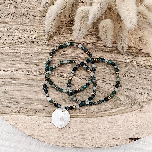 Trio de bracelets Agathe avec nacre