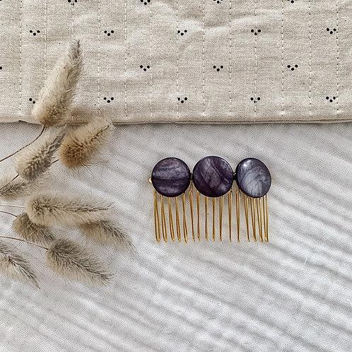 Peigne avec perles rondes - Gris