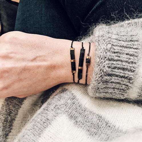 Trio bracelets Mia - Noir