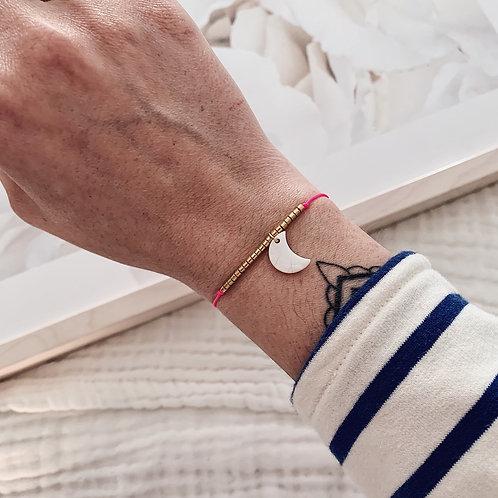 Bracelet Lune - Rose fluo