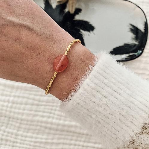 Bracelet Alba - Rose/Doré