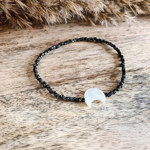 Bracelet Moon - Noir/Kaki