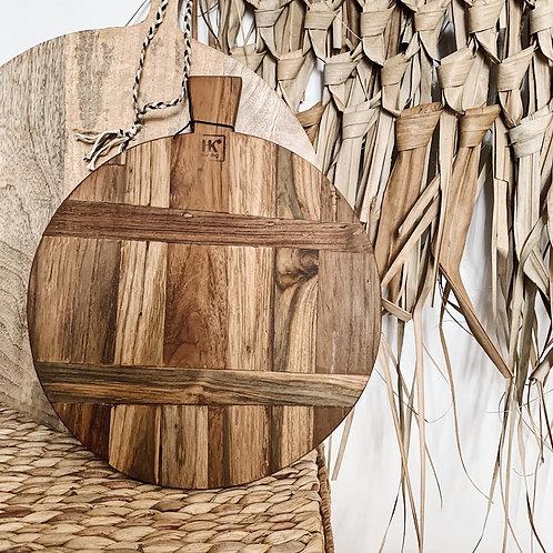 Planche ronde en bois récupéré