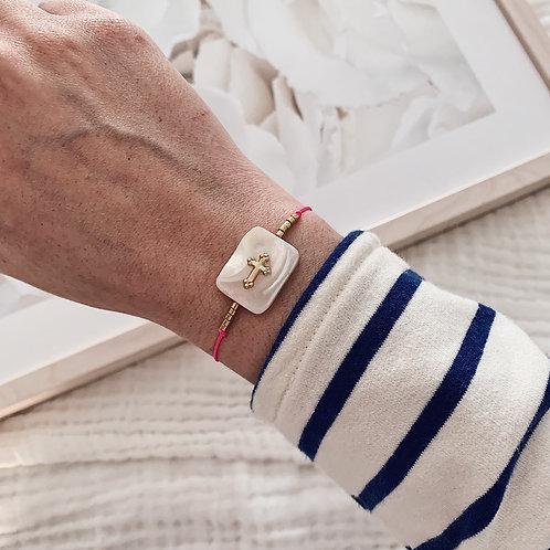Bracelet Maria - Rose fluo