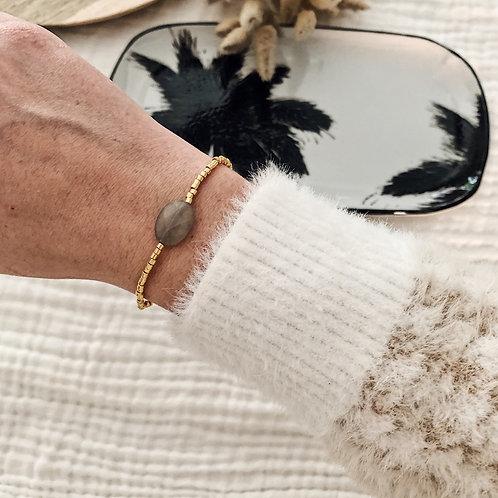 Bracelet Alba - Gris/Doré