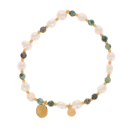 Bracelet Noélie - Turquoise africaine