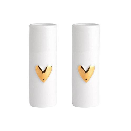 Vases coeurs - Doré