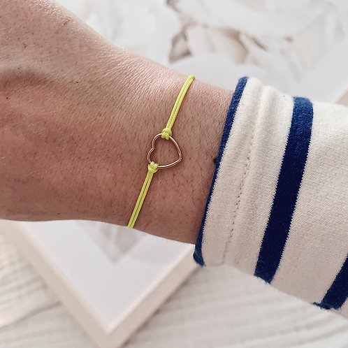 Bracelet Amore - Petit / Jaune fluo