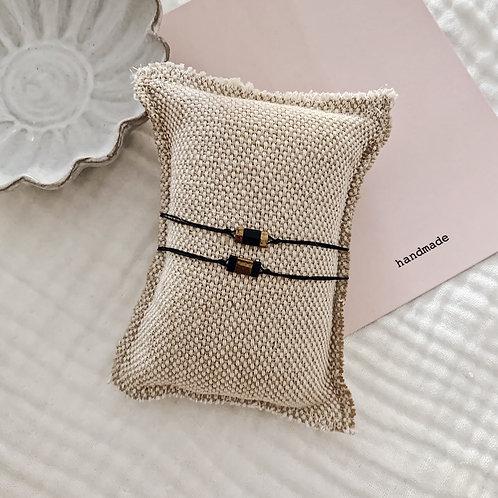 Duo bracelets Mia - Noir