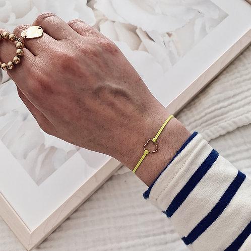 Bracelet Amore - Petit torsadé / Jaune fluo