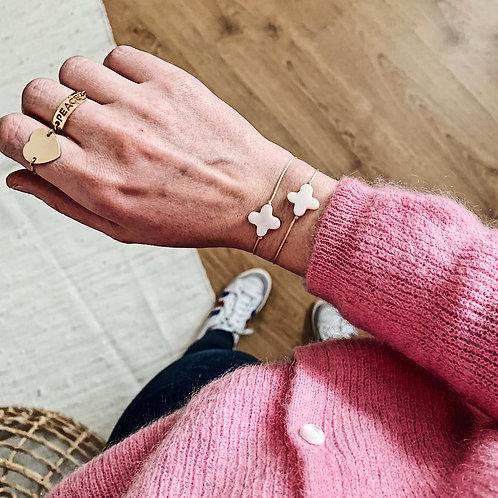 Bracelet trèfle - Blanc