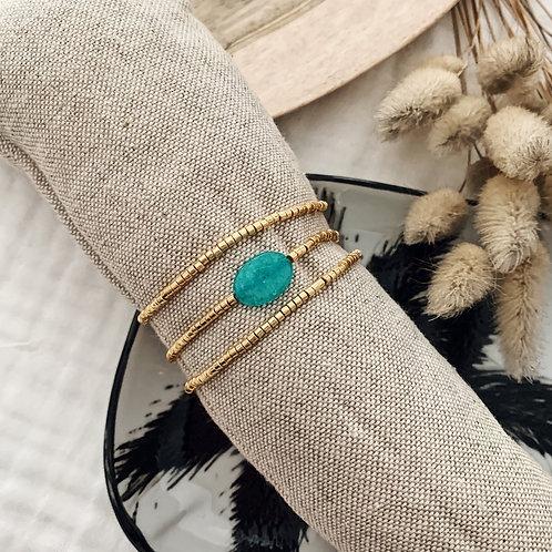 Composition bracelets Alba - Turquoise