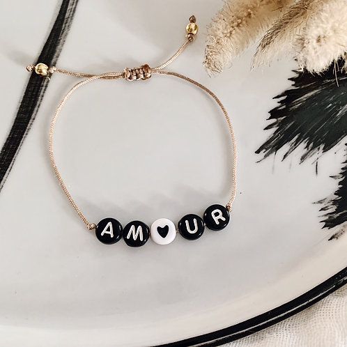 Bracelet Amour - Noir