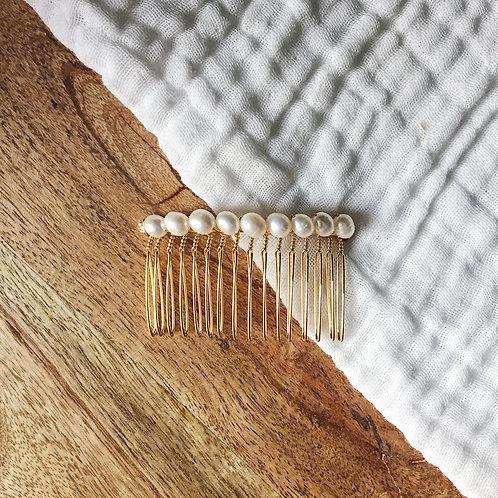 Peigne avec perles d'eau douce n°1