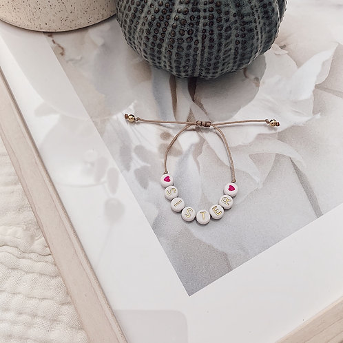 Bracelet Sister/coeurs - Doré