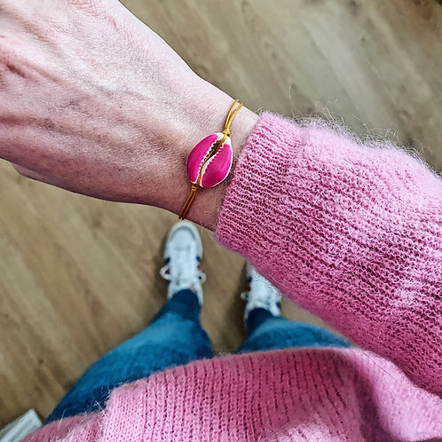 Bracelet Cauri - Fuchsia