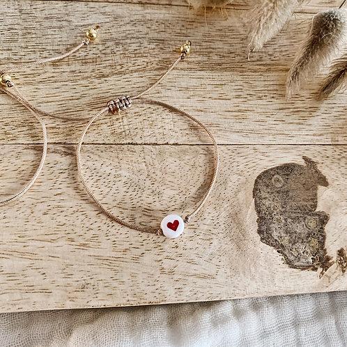 Bracelet Coeur - Rouge