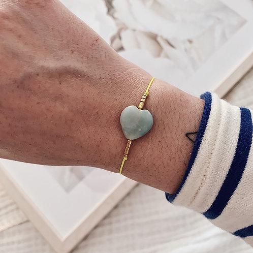 Bracelet Amazonite - Jaune fluo