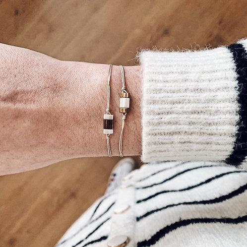 Duo bracelets Mia - Blanc