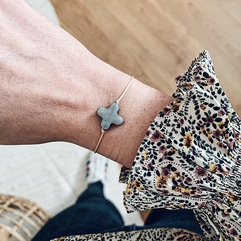Bracelet trèfle - Gris
