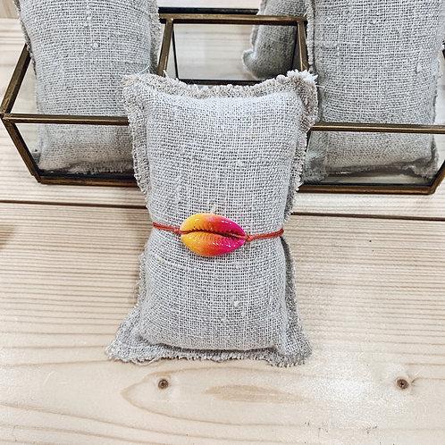 Bracelet Cauri - Multi rose/orange/corail