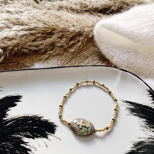 Bracelet Maria bis - Doré/vert