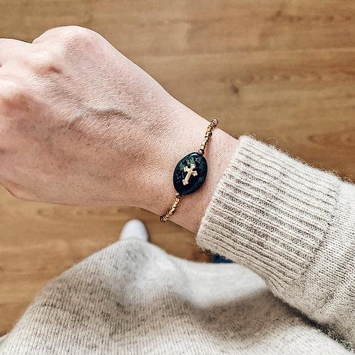 Bracelet Maria bis - Doré/noir