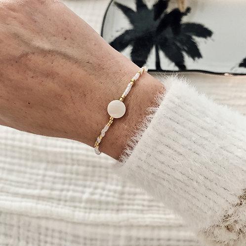 Bracelet Lily - Blanc/Doré