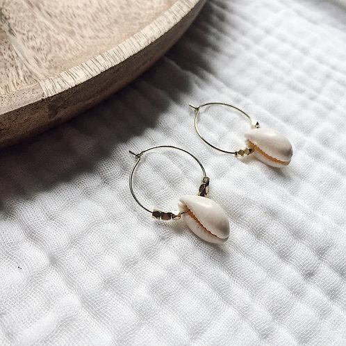 Boucles Cauri avec perles