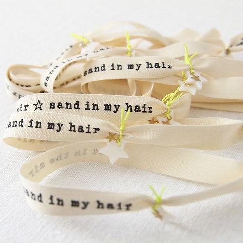 Bracelet ruban HER - Salt & sand