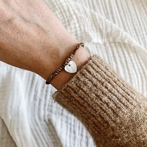 Bracelet Mia - Coeur nacre