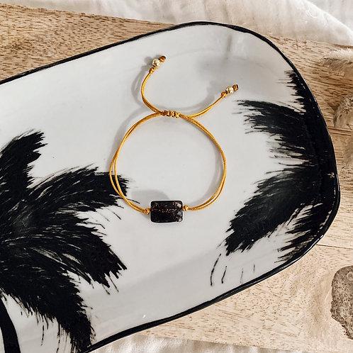 Bracelet cordon Ambre