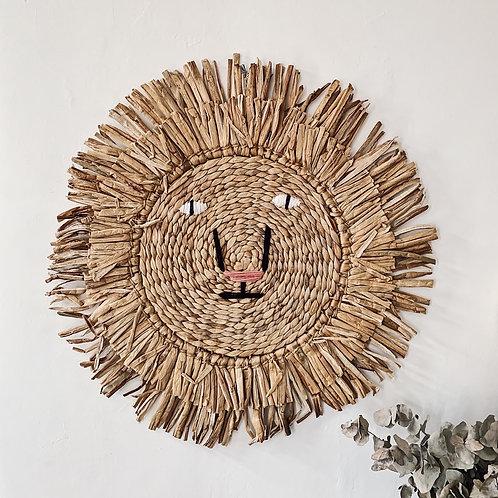 Tête de lion en raphia