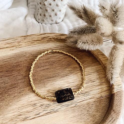 Bracelet Ambre - Doré
