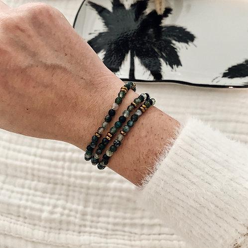 Trio de bracelets Agathe simples