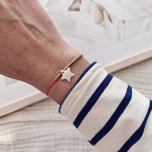Bracelet Etoile - Rose fluo