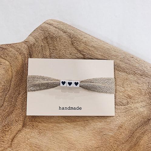 Bracelet 3 coeurs - Noir