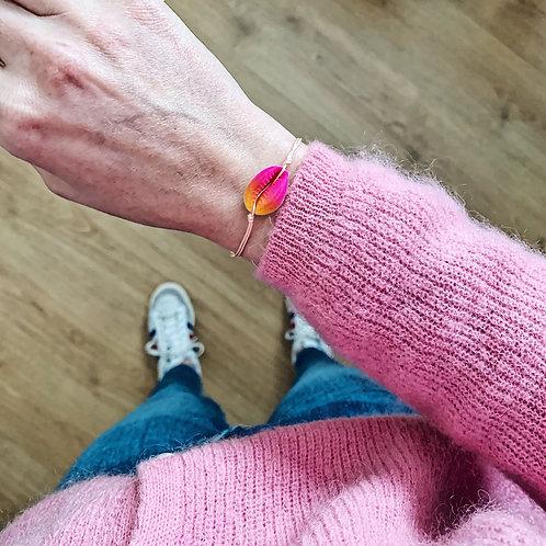 Bracelet Cauri - Multi rose/orange