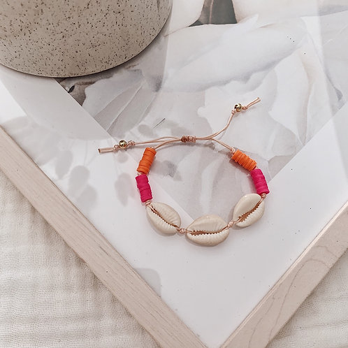 Bracelet Acapulco - Orange/fuchsia