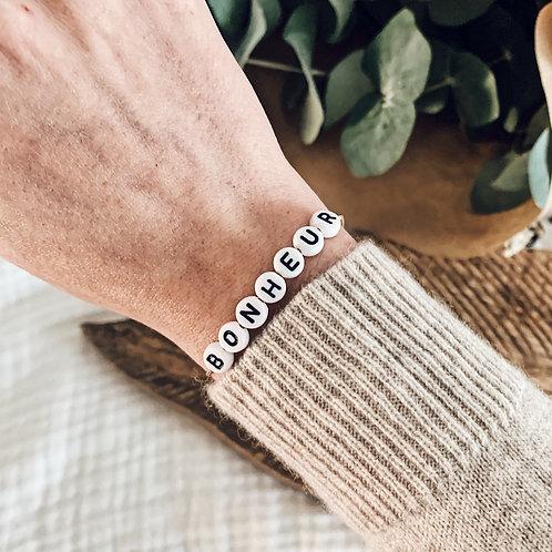Bracelet Bonheur - Blanc