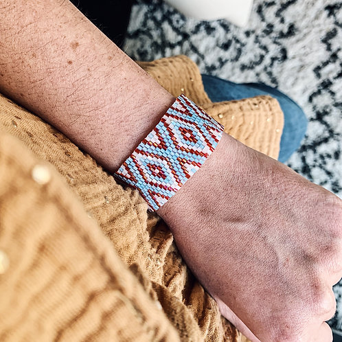 Bracelet Brasil - Bleu/rouge