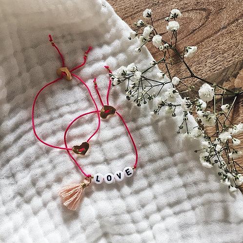 Duo bracelets Coeur et Lettres