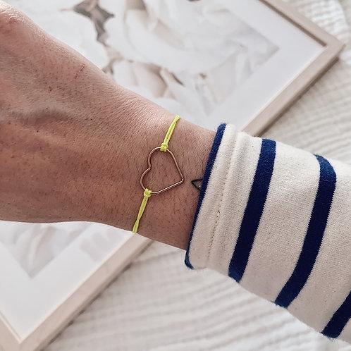 Bracelet Amore - Grand / Jaune fluo
