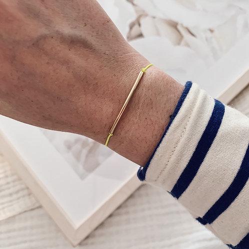 Bracelet cordon Jade - Jaune fluo