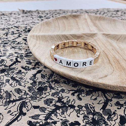 Bracelet WORD - Amore doré