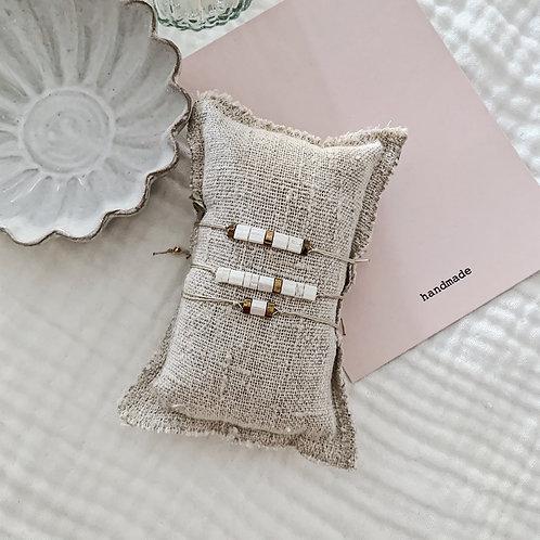 Trio bracelets Mia - Blanc